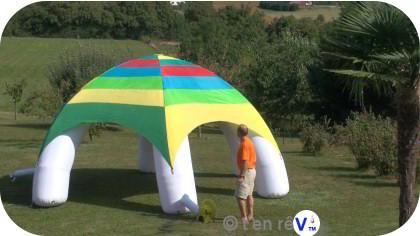 tente d me igloo gonflable diam tre 6 m tres hauteur 3. Black Bedroom Furniture Sets. Home Design Ideas