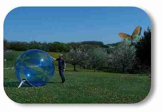 Vid o bulle gonflable g ante water ball pour marcher sur l 39 eau - Acheter tente bulle transparente ...