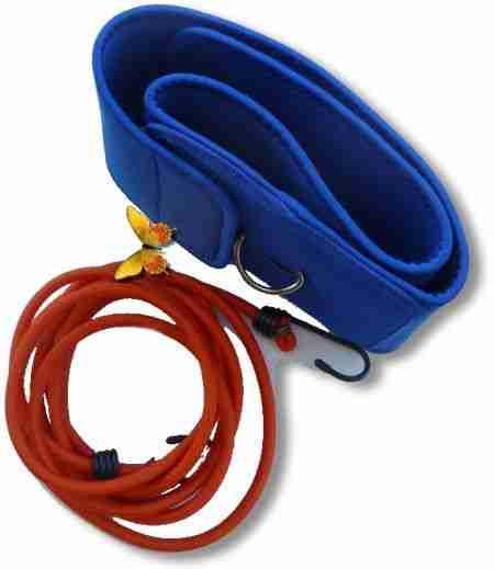 Perche de nage statique et lastique pour natation en mini piscine la maison - Elastique pour nager piscine ...