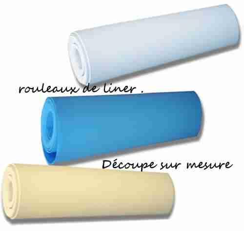 rustine de liner sur mesure pvc bleu blanc mosa que patch. Black Bedroom Furniture Sets. Home Design Ideas