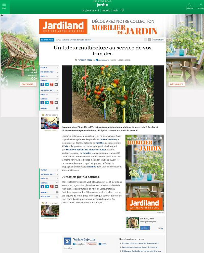 tuteurs de tomates Le Figaro