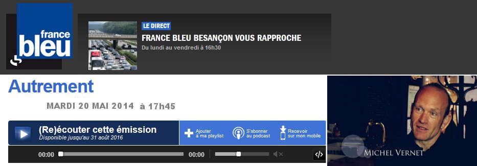 AUTREMENT , France Bleu Besançon Mai 2014