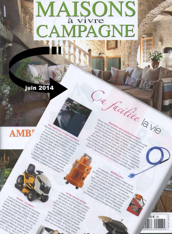 l'aspirateur de vase dans maisons à vivre campagne