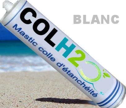 Colh2o blanc colle à carreaux de piscine
