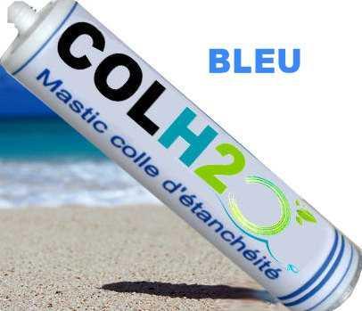 colh2o bleu colle qui sèche sous l'eau