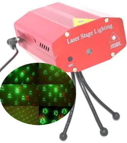 Projecteur d'illuminations laser de façade pour noël