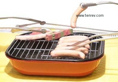 pince barbecue grill up moyenne 40 cm pour retourner les saucisses
