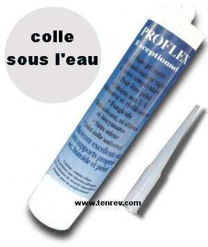Colle proflex blanc sous l 39 eau r paration d 39 une fuite de for Colle pour liner piscine
