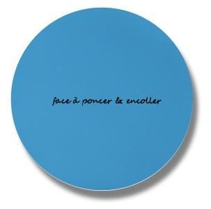 rustine ronde liner bleu foncé piscine