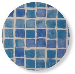 rustine piscine frise mosaïque