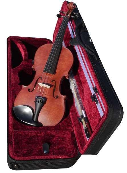 coloris ACAJOU excellent violon d'étude Rigozetti teinté en france