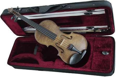 coloris CHENE excellent violon d'étude Rigozetti teinté en france