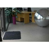 Tapis coton gris bords ronds