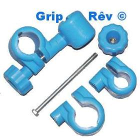 GRIP REV système d'attache tube horizontal vertical