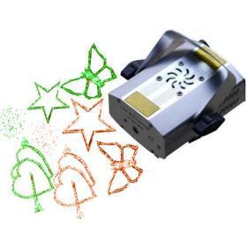 CADEAU Mini laser 4 images qui tournent en rouge et vert