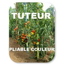 Tuteur tomate pliable, lot de 10, multicolore 5 couleurs