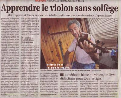 violon : la méthode bleue