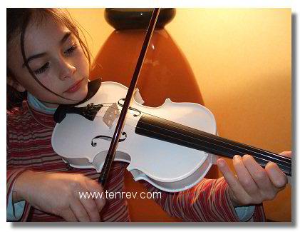 petit violon blanc pour enfant 5 6 ans b ne de qualit. Black Bedroom Furniture Sets. Home Design Ideas