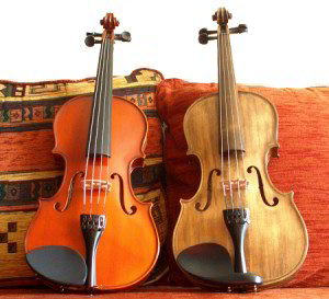 violon décapé